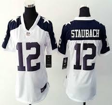 s dallas cowboys jersey 12 roger staubach nike white