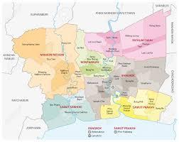 Bangkok Map Bangkok Metropolitan Region Map Royalty Free Cliparts Vectors