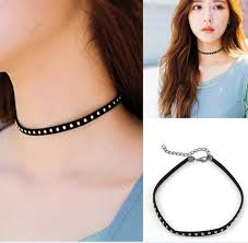 women choker necklace images 2018 women 39 s choker necklace 2016 fashion punk black leather jpg