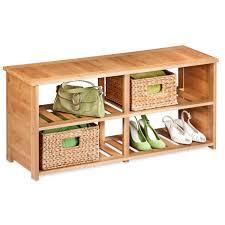 Garage Shoe Storage Bench White Wooden Corner Shoe Organizer With Single Drawer On Brown