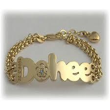 Name Bracelets Gold Gold Baby Name Bracelets K Yellow Gold B Mini Flower Name Baby