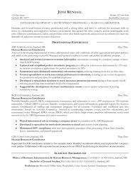 Hr Resume Objective Statements Objective Hr Resume Objective