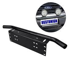 work light mounting bracket universal license plate mounting bracket front bull bar bumper
