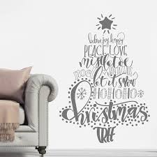 calligraphy christmas tree wall sticker by nutmeg calligraphy christmas tree wall sticker