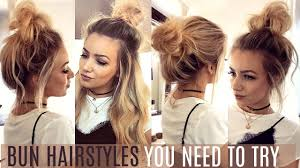 hairstyles quick and easy to do m 6 quick easy bun hairstyles you need to try hair tutorial