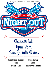 national night out flyer template free image mag