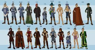 avatar airbender wardrobe entire series