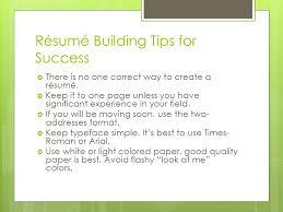 Best Way To Create A Resume by Creating An Effective Résumé Southeast Nebraska Career Academy