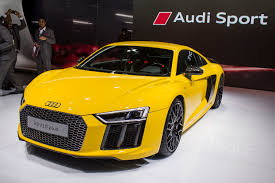 Audi R8 Yellow 2016 - auto expo 2016 new audi r8 v10 plus launched at rs 2 47 crore