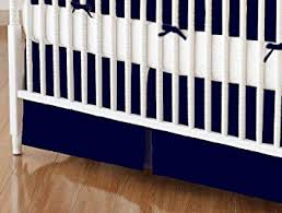 Bed Skirts For Cribs Sheetworld Mini Crib Skirt 24 X 39 Solid Navy