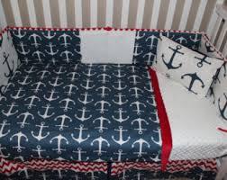 nautical crib bedding etsy