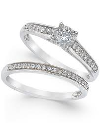 wedding band sets trumiracle diamond engagement ring and wedding band set 1 2 ct