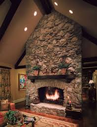 Lighting For Cathedral Ceilings by Stone Architectural Fireplace Recessed Lighting For Sloped