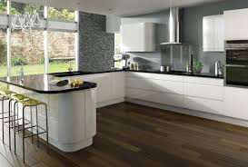 White And Simple High Gloss Kitchen Designs Home Design Lover - White gloss kitchen cabinets
