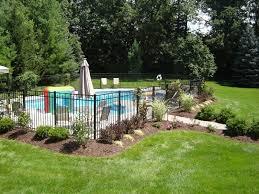 Backyard Pool Landscape Ideas Front Yard Backyard Pool Landscaping Ideas Archaicawful Photo