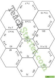 polygon puzzles multiplication worksheets