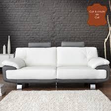 canape gris et blanc canapé 3 places fixe slim blanc gris anniversaire 40 ans
