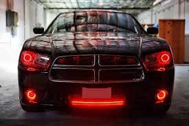 halo lights for 2013 dodge charger 2012 dodge charger multi color colorshift halo kit headlights mr