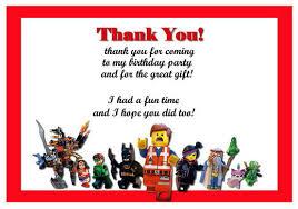 lego movie thank you cards u2013 birthday printable