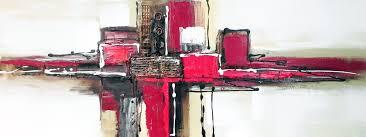 Tableau Abstrait Rouge Et Gris by Tableau Toile Abstrait Avec Peinture Abstraite Rouge Noir Et