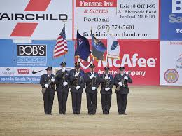 Maine State Flag The Windham Eagle Windham Police Department Honored At Sea Dogs