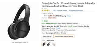 nexus 9 black friday amazon deal alert bose u0027s quietcomfort 25 headphones are down to 269 99