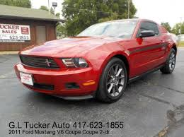 2011 ford mustang for sale 2011 ford mustang in joplin mo g l tucker auto sales
