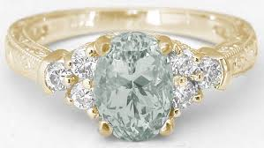green amethyst engagement ring green amethyst and diamond engraved engagement ring in 14k gr 2128