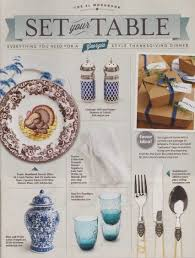 a blue and white southern living thanksgiving