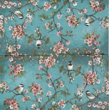 Serviette En Papier Fleur by 2 Serviettes Papier Oiseau Fleur Passioncreationcollection