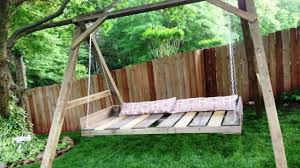 pallet swing bed youtube