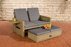 rattan lounge sofa poly rattan lounge sofa ancona 5mm rund rattan natura sonnenliege