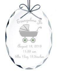 baby carriage beveled ornament healy glass artistry