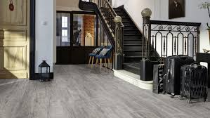 Gray Laminate Flooring Sherwood Oak Grey Beige Welcome 1233 Tarkett