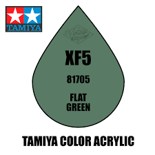 tamiya mini xf 05 flat green 10ml acrylic paint