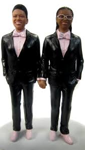 classic couple in tuxedos cake toppers custom sculpted