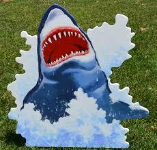 halloween shark lawn stake decoration yard art