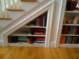 Amazing Bookshelves by Backless Bookcase Under Staircase Bookshelf Pictures Of Photo