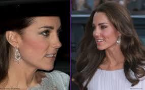 buckingham earrings kate also wore the diamond chandelier earrings loaned to by