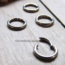 silver piercing rings images Septum piercing hinged segment ring tiny tragus hoop silver 16g 1 4 quot jpg