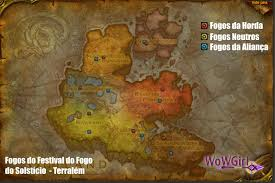 Wow Kalimdor Map Wow Festival Do Fogo Do Solstício