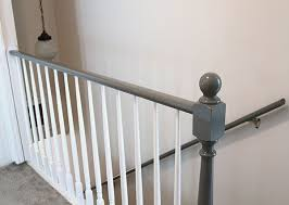 How To Restain Banister Best 25 Painted Stair Railings Ideas On Pinterest Railings