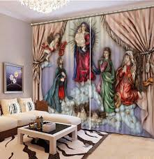 Nice Curtains For Living Room Online Get Cheap Christian Curtains Aliexpress Com Alibaba Group