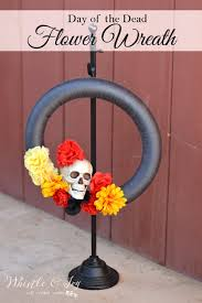 day of the dead flower wreath