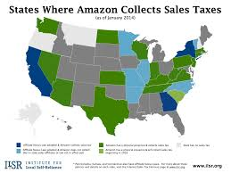 Map Portland Maine by States Where Amazon Collects Sales Tax Map Institute For Local