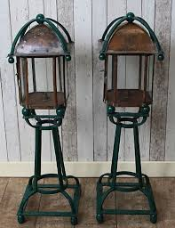 Antique Outdoor Lighting Vintage Lamps A Beautiful Pair Of Outdoor Lamps In Copper U0026 Cast