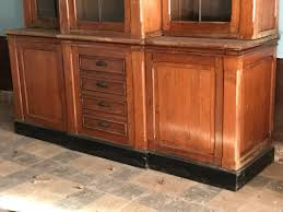 meuble de metier industriel two pitch pine display cabinet circa 1930 mobilier