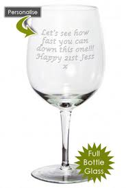 gifts engraved 60th birthday gift bottle personalised engraved wine glass