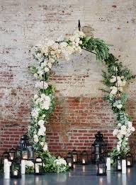 wedding backdrop arch top 12 wedding ceremony arches with flowers floor lanterns