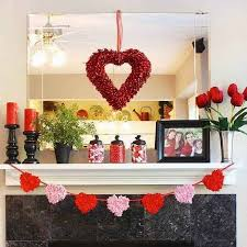 s day decoration chic s day decoration ideas for fireplace mantel
